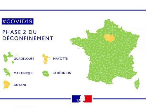Image de la carte de la France pour le déconfinement partie 2